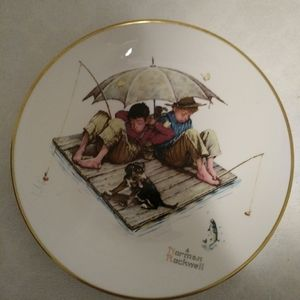 2 Vintage Norman Rockwell Plates